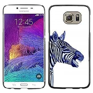 Paccase / SLIM PC / Aliminium Casa Carcasa Funda Case Cover para - Stripes Black White Blue Animal Africa - Samsung Galaxy S6 SM-G920