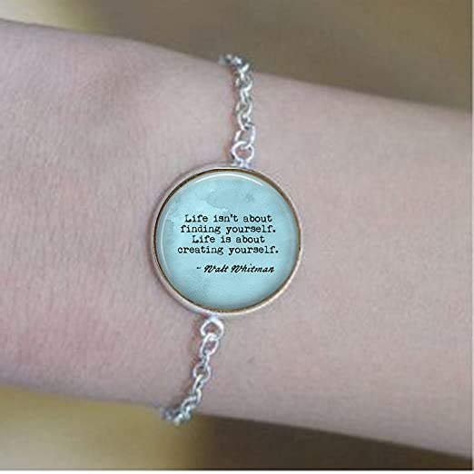 com yijun quote jewelry walt whitman quote gift for