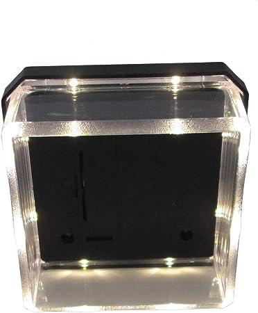 4er Set LED Abdeckkappen f/ür 80 x 80 mm Zaunpfosten Solar Pfostenkappe Zaunpfosten Abdeckung