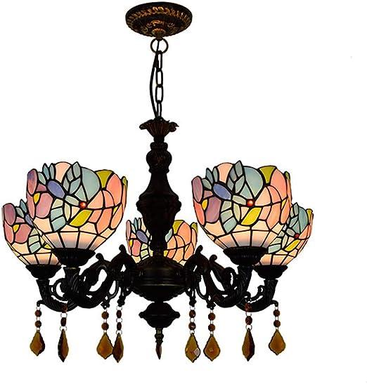 US $178.0 |Mediterranean color glass chandelier restaurant bedroom national style romantic romantic chandelier free shipping|bar