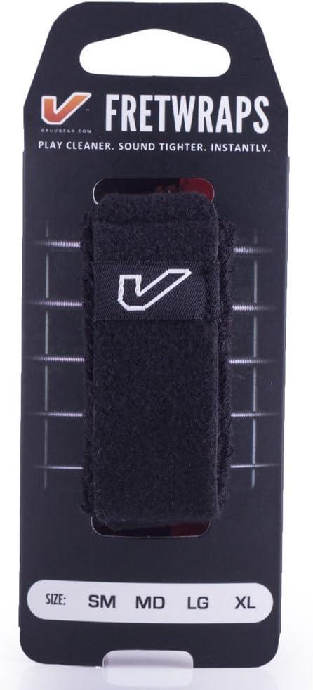 Black, Large Gruv Gear FretWraps String Muter 1-Pack