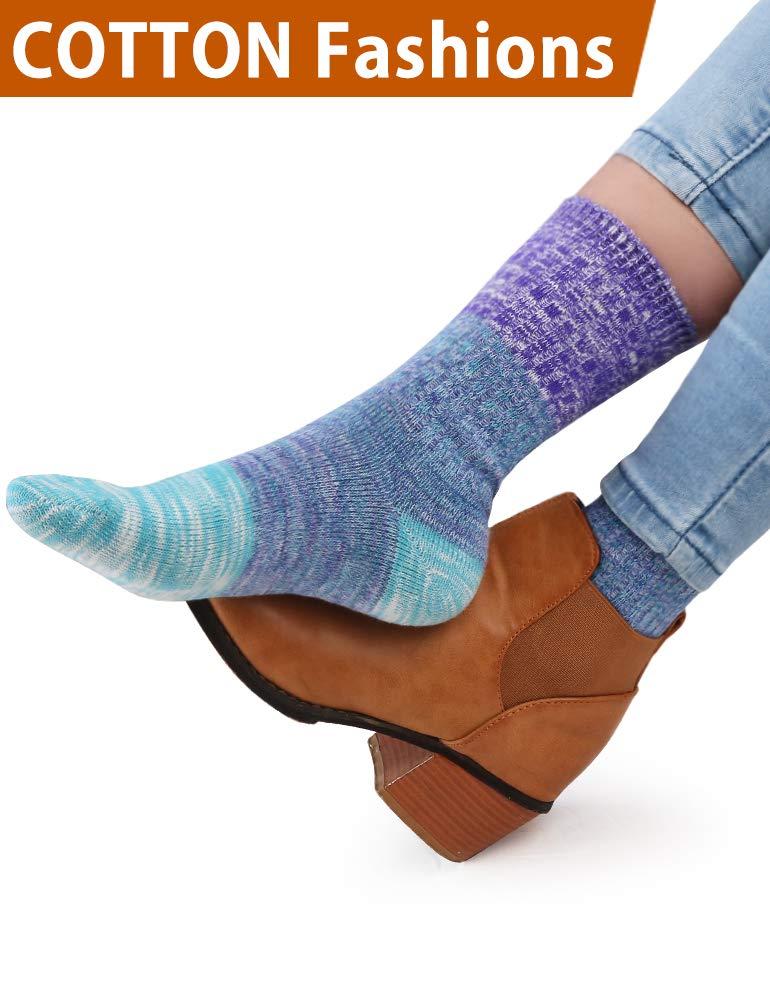 VERO MONTE 4Pairs Cotton Socks for Women -Womens Slouch Socks Cotton Crew(7-9.5) by VERO MONTE