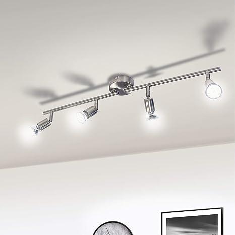 Deckenstrahler Deckenleuchte Wohnzimmer Flur 4flammige Deckenlampe schwenkbar