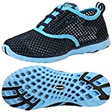 ALEADER Kid's Quick Dry Water Shoes Comfort Walking Sneakers Blue/LtBlue 1 M US