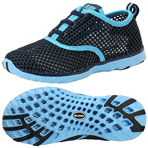 ALEADER Kid's Quick Dry Water Shoes Comfort Walking Sneakers Blue/LtBlue 3 M US Little Kids