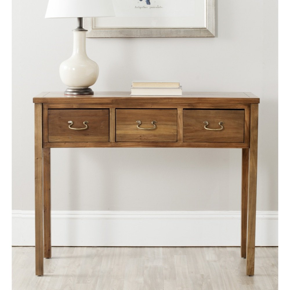 Amazon.com: Safavieh American Home Collection Cindy Oak Console Table:  Kitchen U0026 Dining
