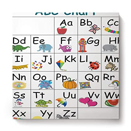 graphic about Abc Chart Printable identify : EZON-CH Canvas Wall Artwork Sq. Oil Portray