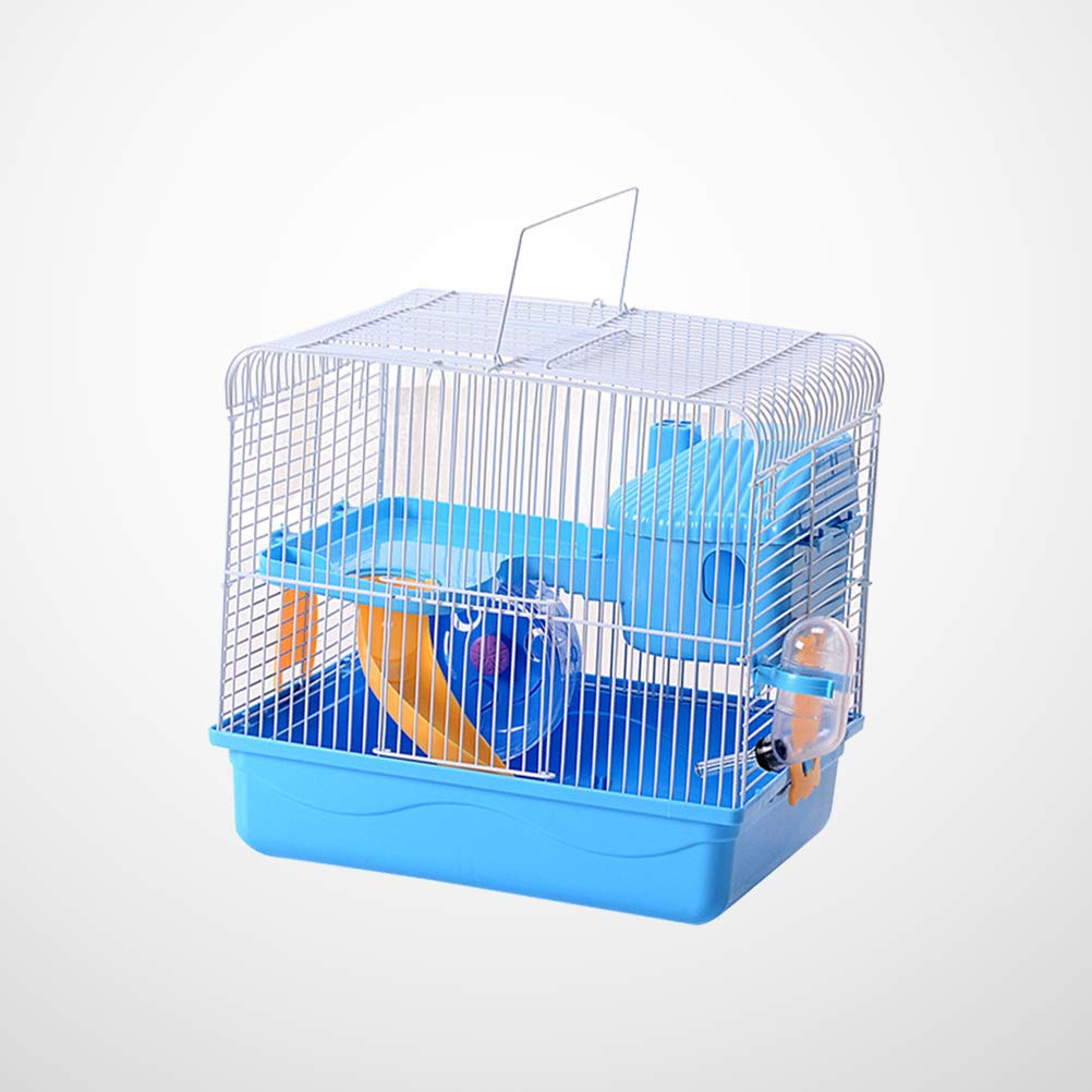 POPETPOP Hamster Cages and Habitats-Hamster Bedding Double-Layers Hamster House Portable Dwarf Hamster-Syrian Hamster-Hedgehog-Chinchilla-Mouse Cage by POPETPOP (Image #5)