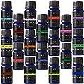 Aromatherapy 18 Essential Oils (Lavender, Tea Tree, Peppermint, Lemongrass, Orange, Eucalyptus, Rosemary, Frankincense, Bergamot, Ylang Ylang, Patchouli, Geranium, Grapefruit, Sage...)