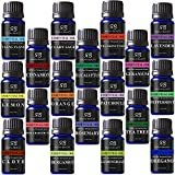 Aromatherapy 18 Essential Oils (Lavender, Tea Tree, Peppermint, Lemongrass, Orange, Eucalyptus, Rosemary, Frankincense, Bergamot, Ylang Ylang, Patchouli, Geranium, Grapefruit, Sage...)