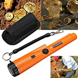 UKCOCO Pinpointer Metal Detector,Portable Metal Locator Scanner with Vibration Vocal Alert Pin Pointer Probe Waterproof with LED Indicators Unearthing Tool Accessories (Batery not included)