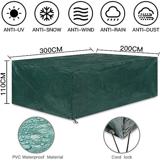 Uping Funda Protectora para Muebles de Jardín | Cubierta Protectora Exterior Impermeable | Rectangular 300 * 200 * 110CM: Amazon.es: Jardín