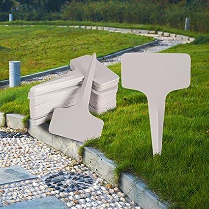Plastic Plant Labels Garden Label Stakes   50Pcs/lot 6x10cm Plastic Plant  T Type