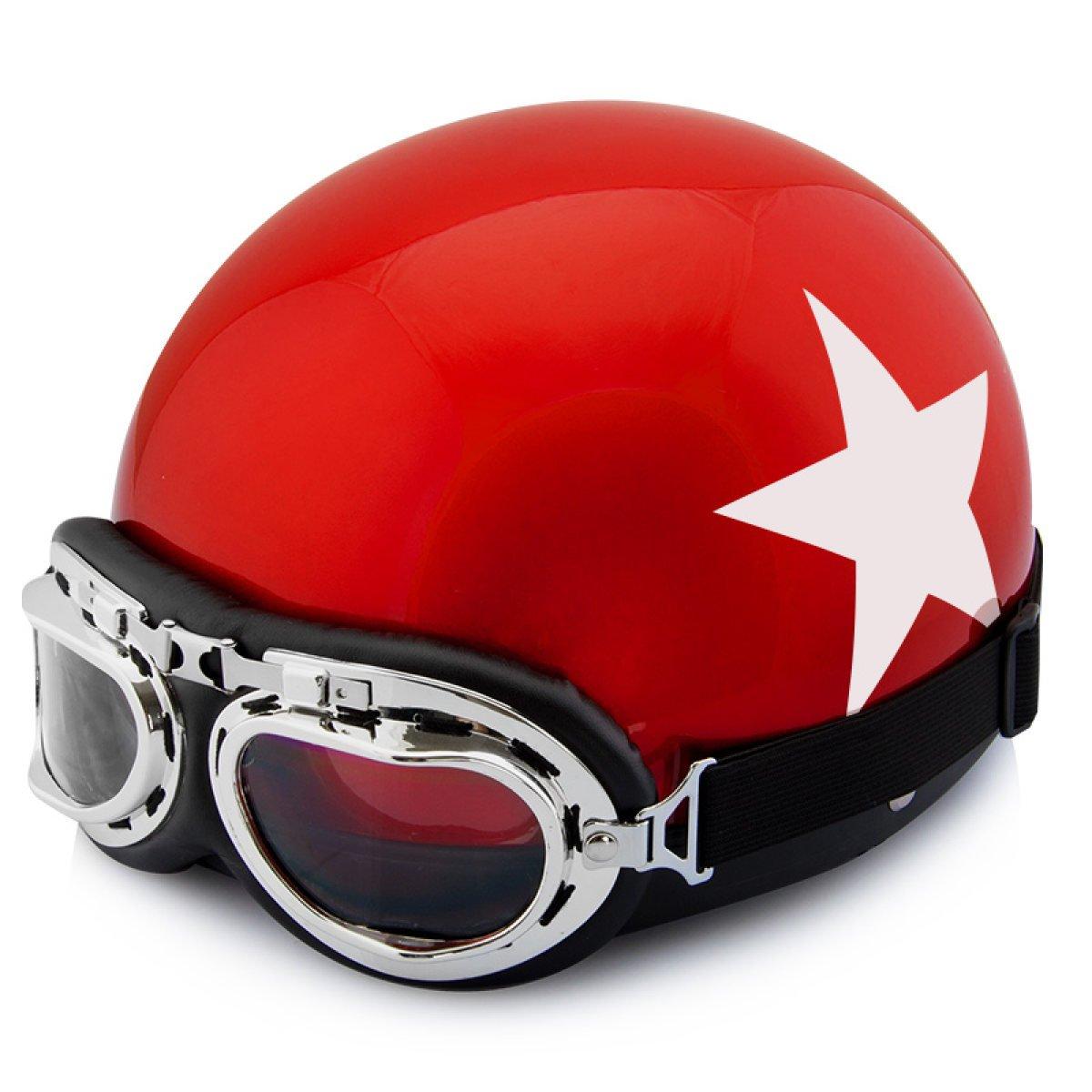 TZQ Half-coveROT Anti-fog Damen Half Helm Männer Mode Wrestling Hut Motorrad Batterie Auto Helm