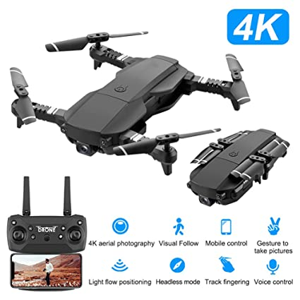 LJXWXN Drone con cámara 4K HD, RC Quadcopter RTF Altitude Hold ...