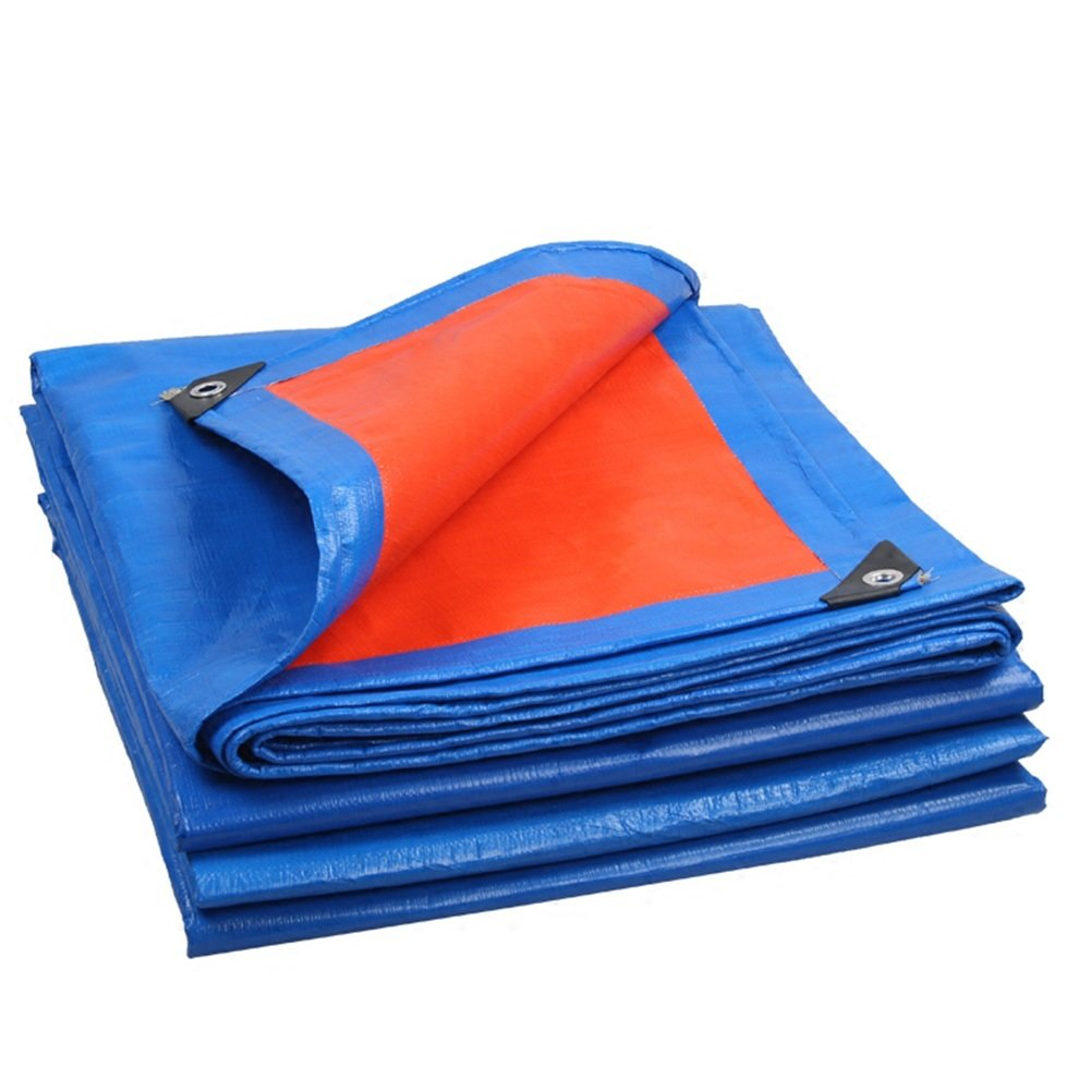 DYFYMXOutdoor Ausrüstung Wasserdichte Plane, Wasserdichte Markise Picknick-Matte Fracht Staub Tuch, Anti-Korrosions-Blau + Orange @