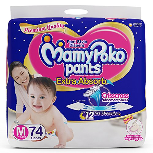 MamyPoko Extra Absorb Medium Size Pants (76N) by Mamy Poko