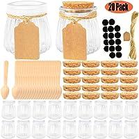 20-Pieces Folinstall 4 oz Glass Jars with Lids