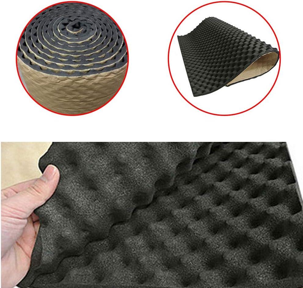 housesweet Protection Thermique Car Sound Deadener Mat Mousse Automobile Tapis Subwoofer Autos Accessoires Audio Isolation phonique Amortissement