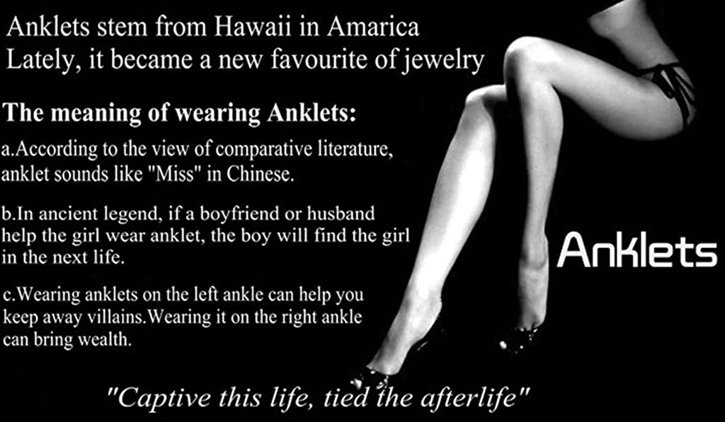 Meaning of anklet on left leg