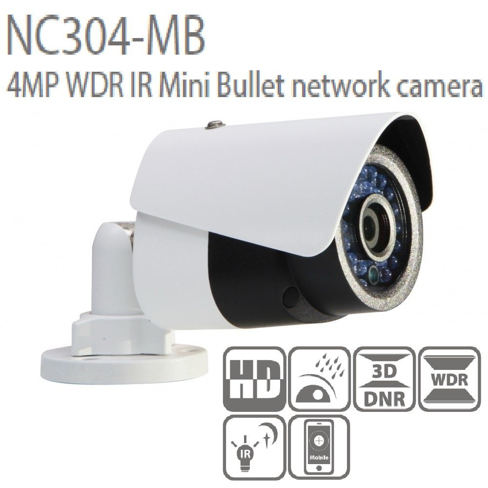 Hikvision(OEM) 4MP POE IP Camera 4mm Lens NC304-MB(DS-2CD2042WD-I) Network Bullet Camera English Version.