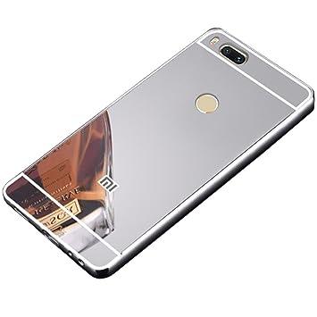 stuyoya Xiaomi Mi 5X / Mi A1 Funda Espejo, Carcasa Trasera [Marco de Aluminio] Bumper Mi5X / MiA1 Lámina Trasera PC Efecto Espejo [Ultra Resistente] ...