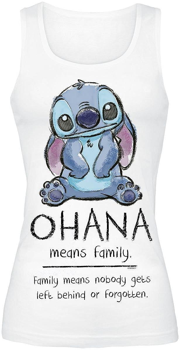 Lilo & Stitch Ohana Means Family Girl-Top weiß