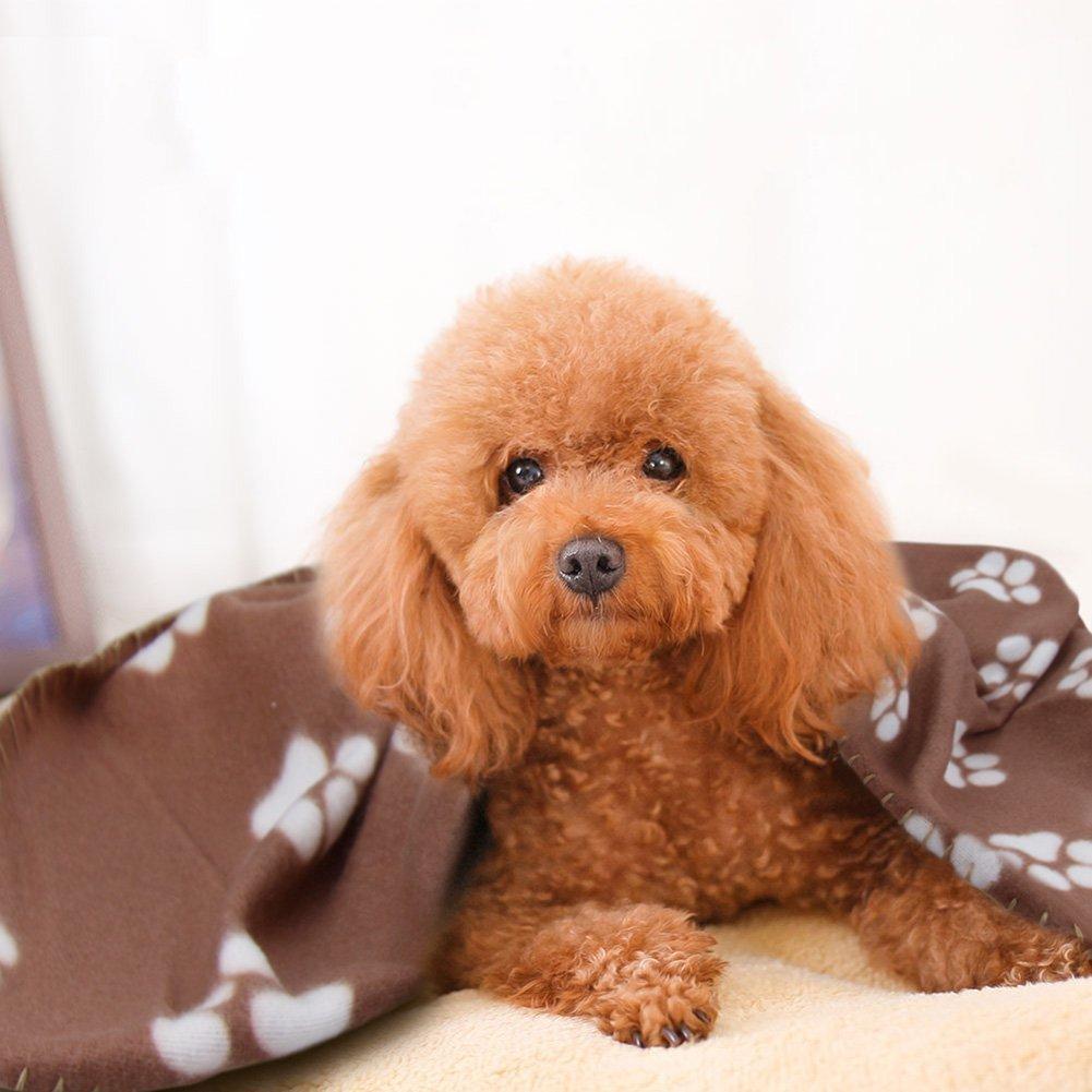 Manta de Pet Blanket para perro, gato, manta de forro polar para dormir, con estampado de cachorros, manta suave para gatitos, cachorros y otros animales ...