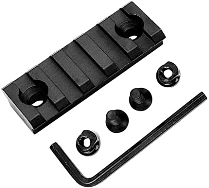 FOR Keymod 5 Slot Picatinny//Weaver Rail Handguard Section Aluminum 2 inch IN US