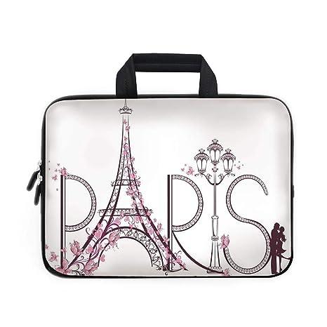 192150bacc18 Amazon.com: Paris City Decor Laptop Carrying Bag Sleeve,Neoprene ...
