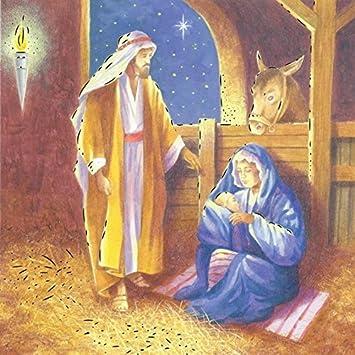 Religiöse Weihnachtskarten.12 Stück Religiöse Weihnachtskarten Mit Goldfolie Stall Krippe