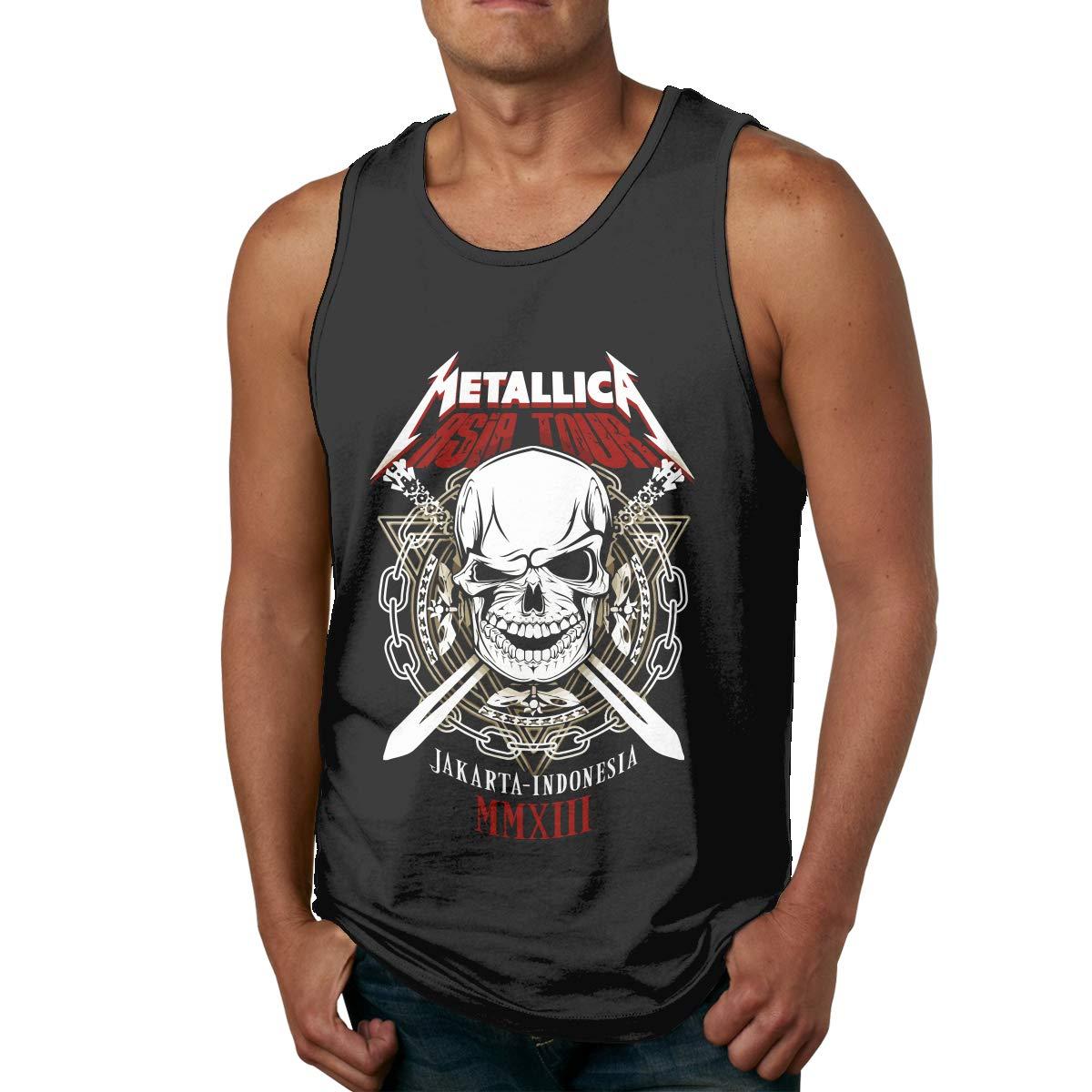 LixuA Mens Metallica All-Over Print Tank Top Slim Fit Muscle Shirt