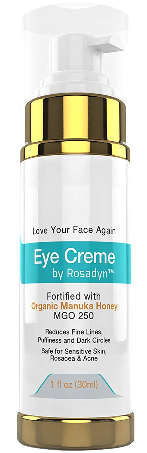Eye Crème w/ Manuka Honey by Rosadyn | Reduces Puffiness, Fine Lines and Dark Circles | Hydrating and Healing