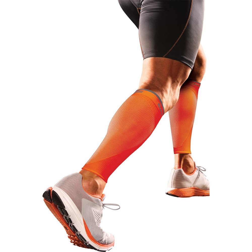 Shock Doctor RE+ SVR Recovery Compression Calf Sleeve Large Orange by Shock Doctor