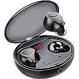 Wireless Earbuds, NYZ [2021 Upgraded] True Wireless Bluetooth Earbuds Hi-Fi Stereo Bass Headphones in-Ear Earphones LED Displ