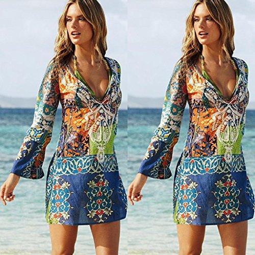 Gasa Playa Playa Vistoso Vestido Verano Corta De Gasa Vestido Cuello Las AmazingDays Traje Mujer Fiesta Playa BañO vestidos Vestidos Falda De De Mujeres De La Sexy Bikini Cover V xBqI1I
