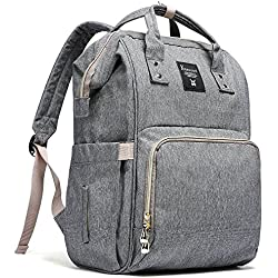 YEERDONE Diaper Bag Backpack Multi-Function Waterproof Maternity Nappy Bags for Travel with Baby - Large Capacity, Durable and Stylish, Gray