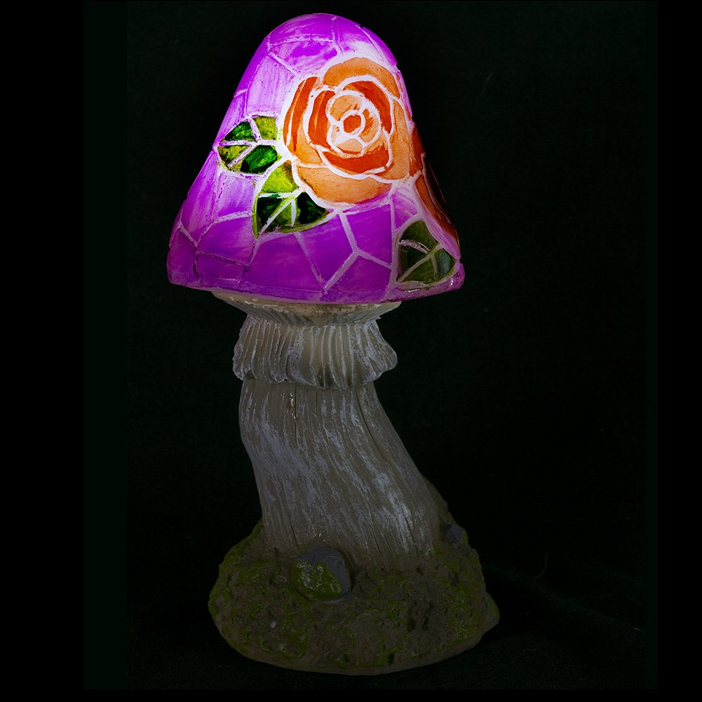 Mushroom Flowers Solar Garden Light Dawhud Direct DH-815