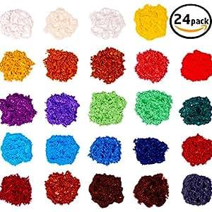 24 Colors for Soap Coloring - Mica Powder Pigments - Soap dye-Soap Making Colorants Set - (0.1 oz 24 bags)