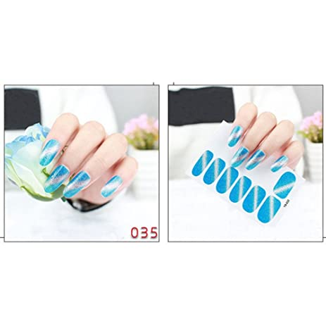 Distinct nail stickers fingernail art sticker design tip diy decoration
