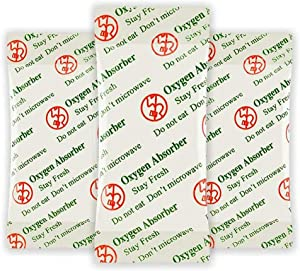 Wolfgroup 1000cc (30 Packets) Oxygen Absorbers for Food Storage Food Grade - Long Term and Freshness for Mylar Bag, Containers Food - Fresh Produce Preserver