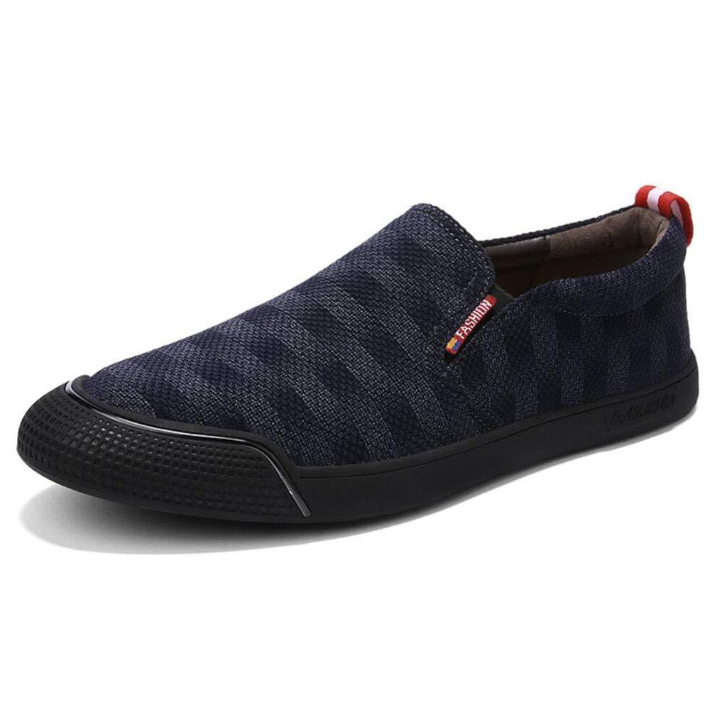YAN Herrenschuhe Cowboy Herbst & Winter Loafers & Slip-Ons Fahren Schuhe für Casual Party & Abend Outdoor 2018 Blau, Größe : 41