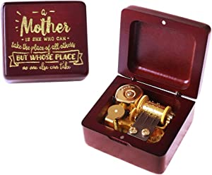 Sinzyo You are My Sunshine Music Box Wine red Wood Gold Plated Movement Gift for Christmas,Birthday,Valentine's Day,Best Gift for Kids,Friends D