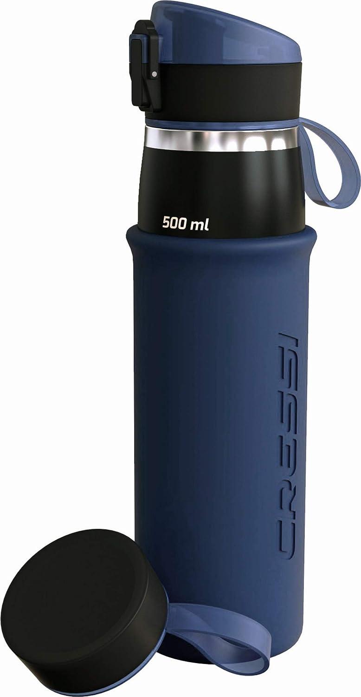 black Acero Inoxidable 500ml logic bottle