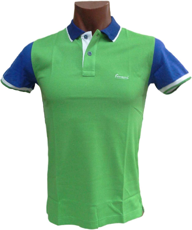 Ferrucci Polo, Camiseta Hombre con Cuello 2 Botones, Sammy. 100 ...