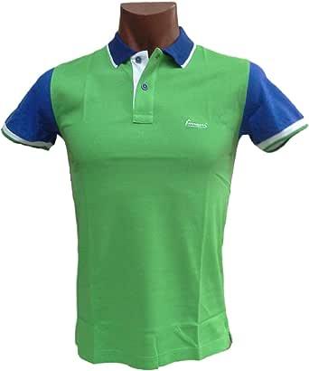Ferrucci Polo, camiseta hombre con cuello 2 botones, Sammy. 100% algodón. Italia. azul claro 54: Amazon.es: Ropa y accesorios