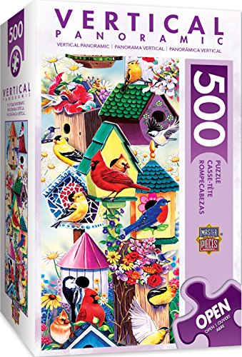 - MasterPieces Vertical Panoramics Lookout Point Birds & Birdhouses Panoramic Jigsaw Puzzle by Jenny Newland, 500-Piece