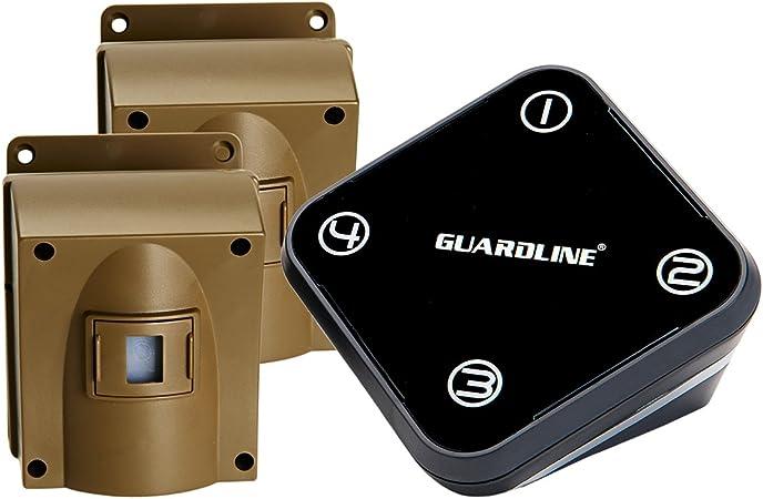 Blanco, 1PC Agger Alarma del Sensor de Movimiento para el hogar Garaje Shed Caravana