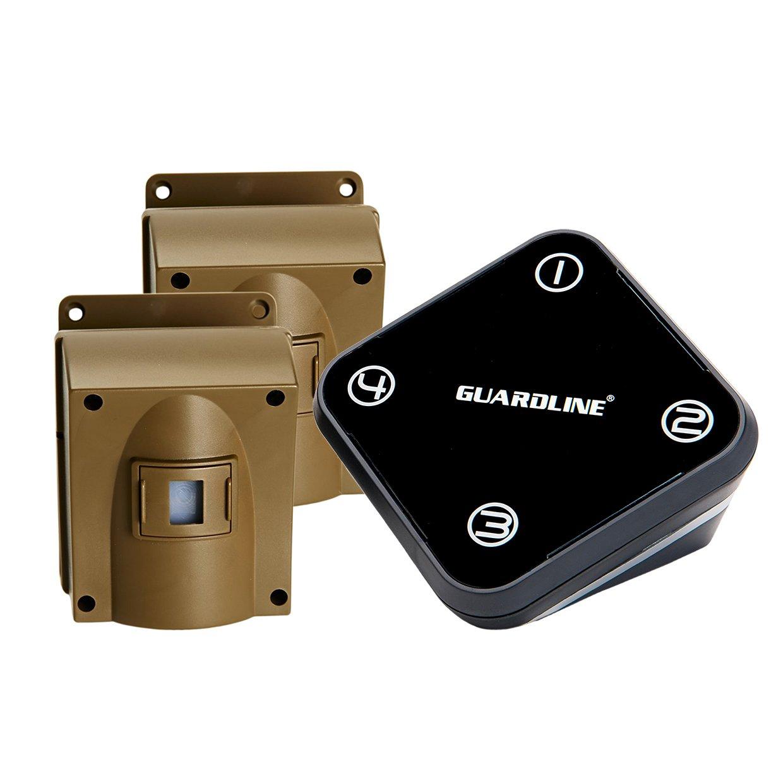 Guardline Wireless Driveway Alarm w/Two Sensors Kit Outdoor Weather Resistant Motion Sensor/Detector- Best DIY Security Alert System- Protect Home, Perimeter, Yard, Garage, Gate, Pool. by Guardline