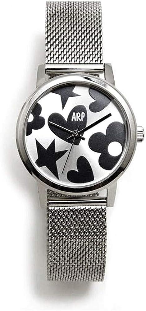 Agatha Ruiz de la Prada Reloj para Mujer Analógico Cuarzo japonés con Correa de Acero Inoxidable AGR248